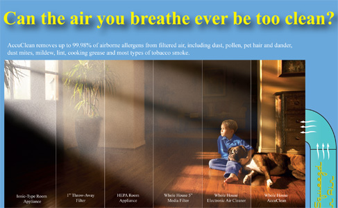 Your new air conditioning can improve the quality of air that you and your family breathe