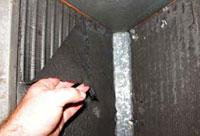A flooding evaporator coil on a central air conditioning system is a sure sign of lack maintenance.