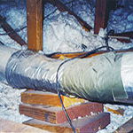 crushed air ducts discovered during furnace tune up