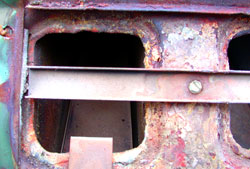 The acidic nature of the natural gas exhaust corrodes fireboxes