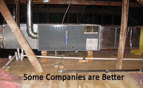 Central air conditioning installation and central heating installation