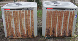 Old air conditioners not only look bad but they cause high electric bills