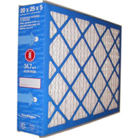 Pleated furnace air filter